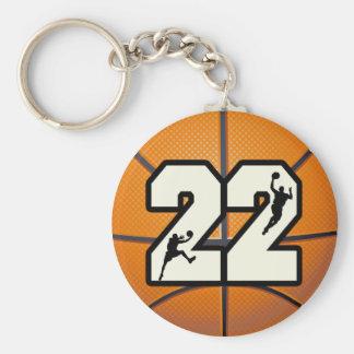 Baloncesto del número 22 llaveros