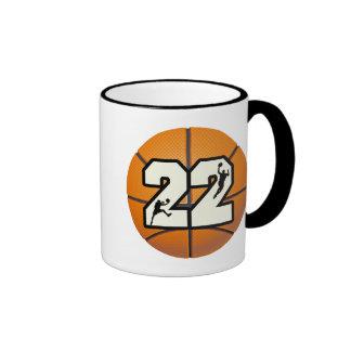 Baloncesto del número 22 taza a dos colores