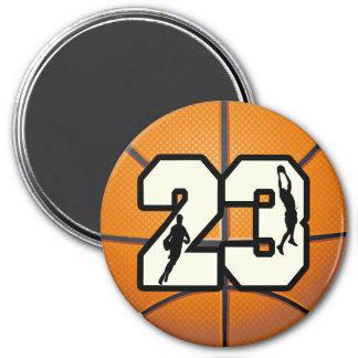 Baloncesto del número 23 imanes de nevera