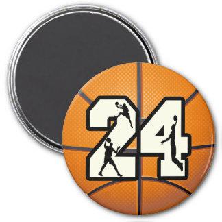Baloncesto del número 24 iman para frigorífico