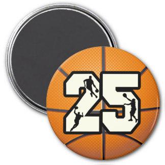 Baloncesto del número 25 imanes