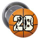 Baloncesto del número 28 pins
