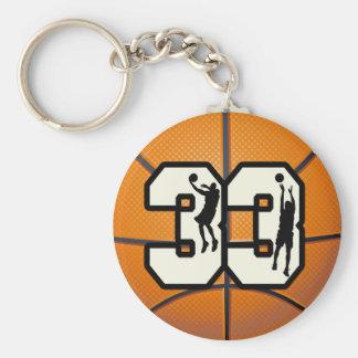 Baloncesto del número 33 llavero redondo tipo pin