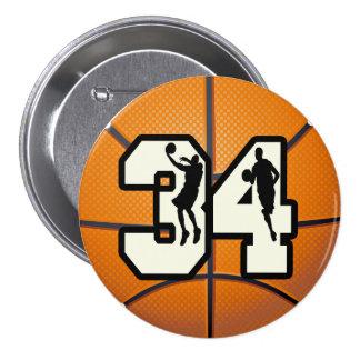 Baloncesto del número 34 pin redondo de 3 pulgadas