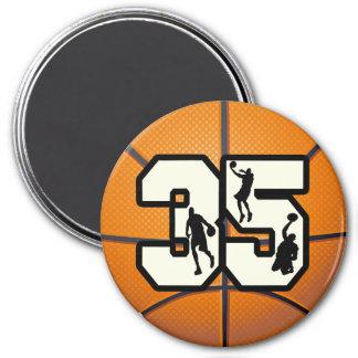 Baloncesto del número 35 imanes para frigoríficos