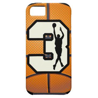 Baloncesto del número 3 iPhone 5 Case-Mate coberturas