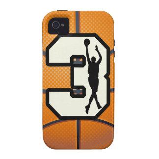 Baloncesto del número 3 Case-Mate iPhone 4 carcasas