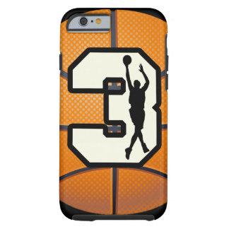 Baloncesto del número 3 funda de iPhone 6 tough