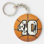 Baloncesto del número 40 llavero