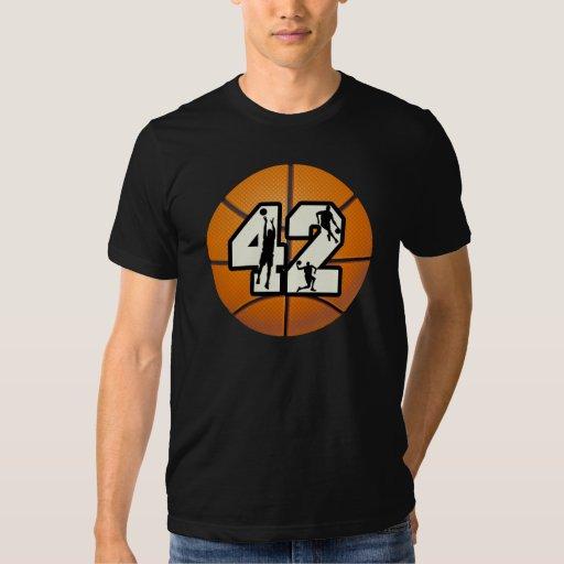 Baloncesto del número 42 playera