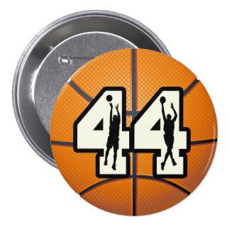 Baloncesto del número 44 pins