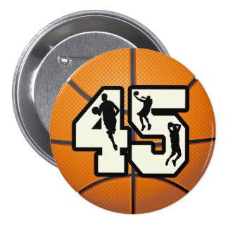 Baloncesto del número 45 pin