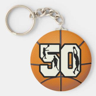 Baloncesto del número 50 llavero redondo tipo pin