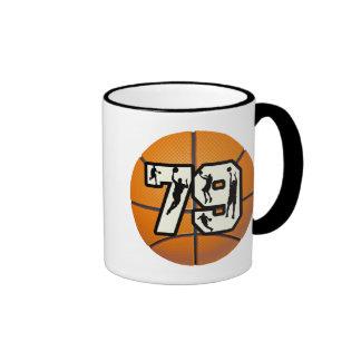 Baloncesto del número 79 taza de café
