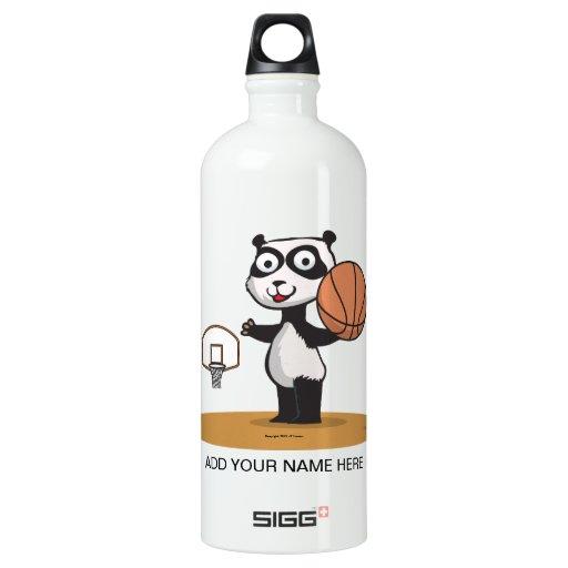 Baloncesto del oso de panda botella de agua