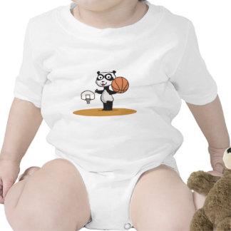 Baloncesto del oso de panda camiseta