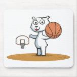 Baloncesto del oso polar alfombrilla de ratón