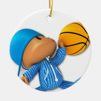 Baloncesto del Peekaboo Adorno Navideño Redondo De Cerámica