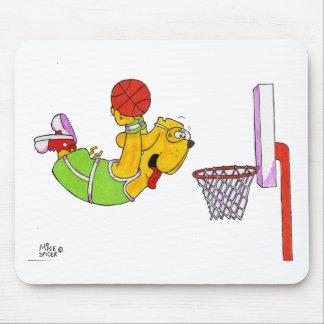 Baloncesto del perro de Donny Alfombrilla De Raton