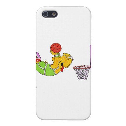 Baloncesto del perro de Donny iPhone 5 Fundas