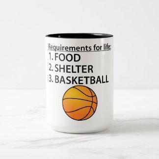 Baloncesto del refugio de la comida tazas