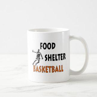 Baloncesto del refugio de la comida taza de café
