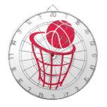 Baloncesto del rojo carmesí tablero dardos