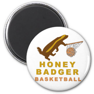 Baloncesto del tejón de miel imán redondo 5 cm