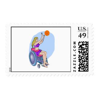 Baloncesto del tiro de la silla de ruedas envio