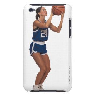 Baloncesto del tiroteo del jugador de la mujer barely there iPod fundas