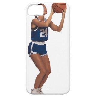 Baloncesto del tiroteo del jugador de la mujer iPhone 5 fundas