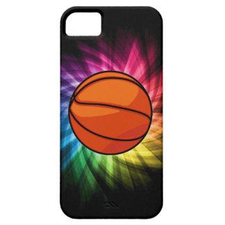 Baloncesto; Deporte; arco iris iPhone 5 Fundas
