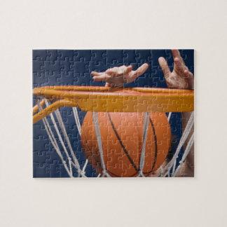 Baloncesto dunking del hombre puzzles