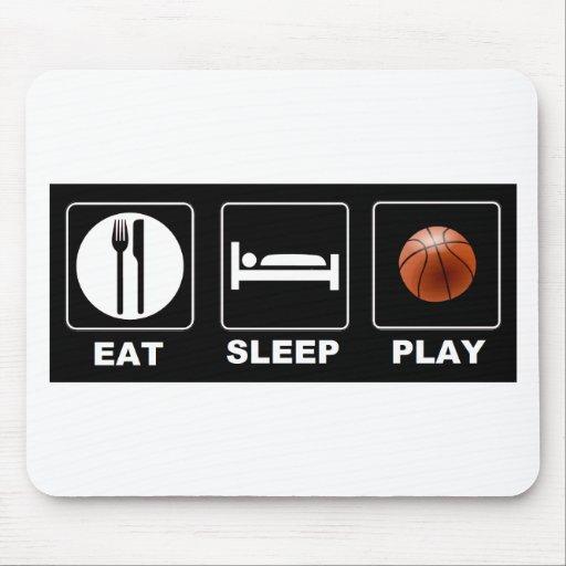 Baloncesto Eat Sleep Play Tapetes De Ratones