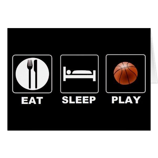 Baloncesto Eat Sleep Play Tarjeton