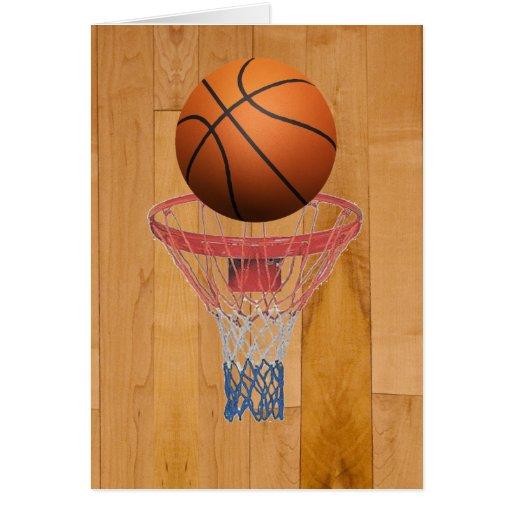 Baloncesto - efecto 3D Tarjeta De Felicitación