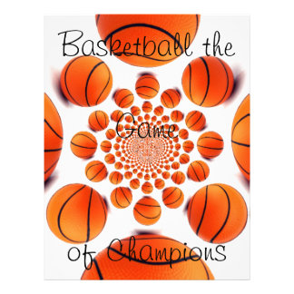 Baloncesto el juego del papel con membrete de azar plantilla de membrete
