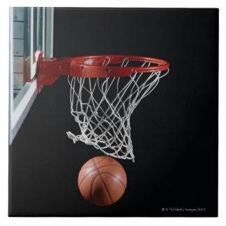 Baloncesto en aro azulejo cuadrado grande