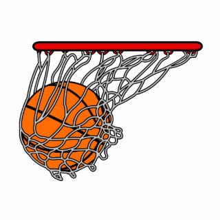 Baloncesto en aro esculturas fotograficas