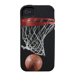 Baloncesto en aro vibe iPhone 4 carcasas
