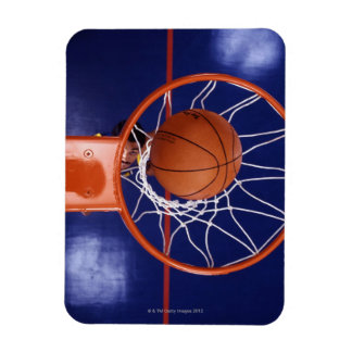 baloncesto en aro imán foto rectangular