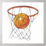 baloncesto en aro impresiones