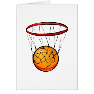Baloncesto en aro tarjeta pequeña