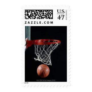 Baloncesto en aro timbre postal