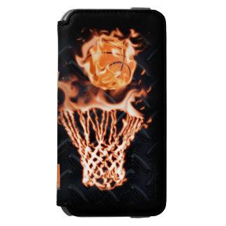 Baloncesto en chasquido del fuego él funda billetera para iPhone 6 watson