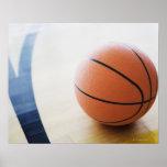Baloncesto en corte póster