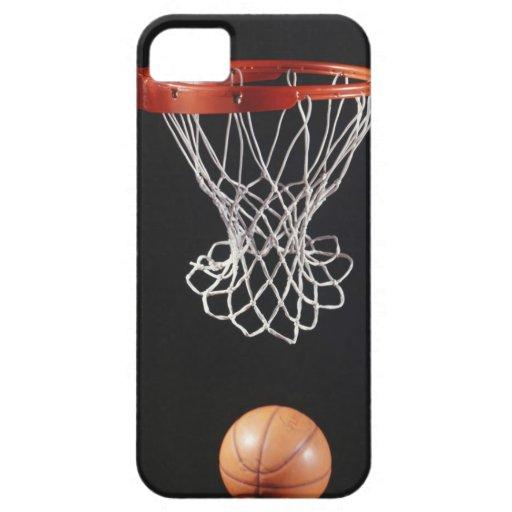 Baloncesto en el aro, primer 2 iPhone 5 fundas