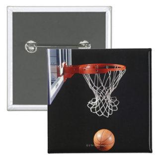 Baloncesto en el aro, primer 2 pin cuadrado