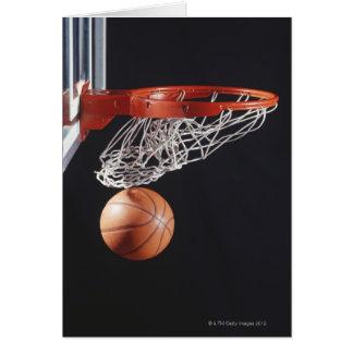 Baloncesto en el aro, primer tarjeta de felicitación
