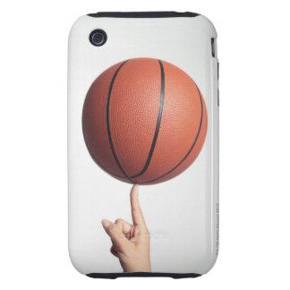 Baloncesto en el dedo índice, primer de las manos tough iPhone 3 cobertura